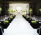 Sophisticated wedding ceremony with unique flowers