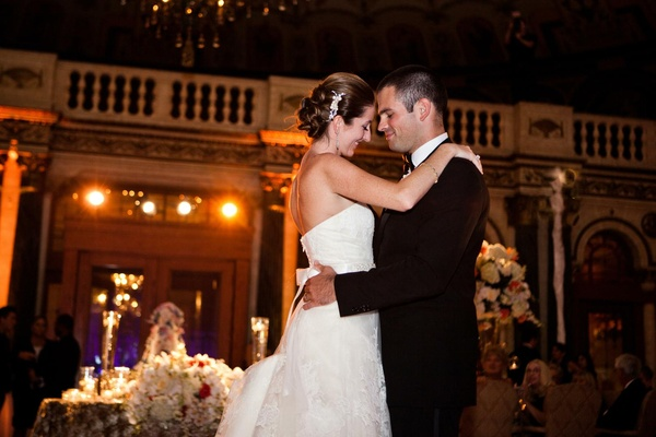 Bride and groom dance at The Breakers reception venue