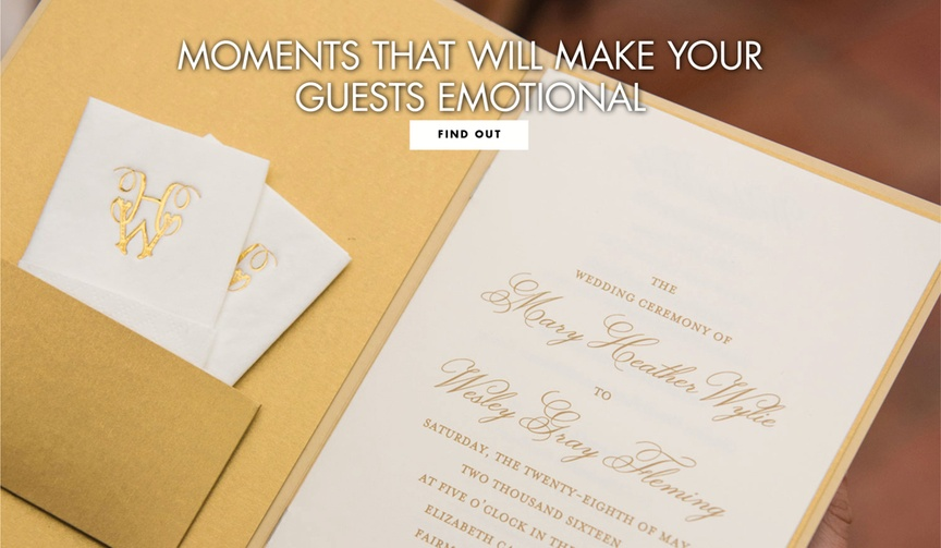 what makes guests cry at weddings, emotional moments at weddings