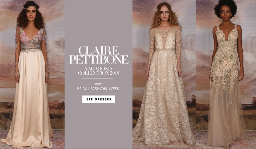 Claire Pettibone Vagabond Collection 2018 wedding dresses bridal collection