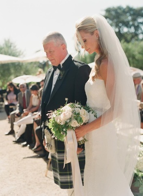 Mark-Paul Gosselaar's bride with Scottish dad