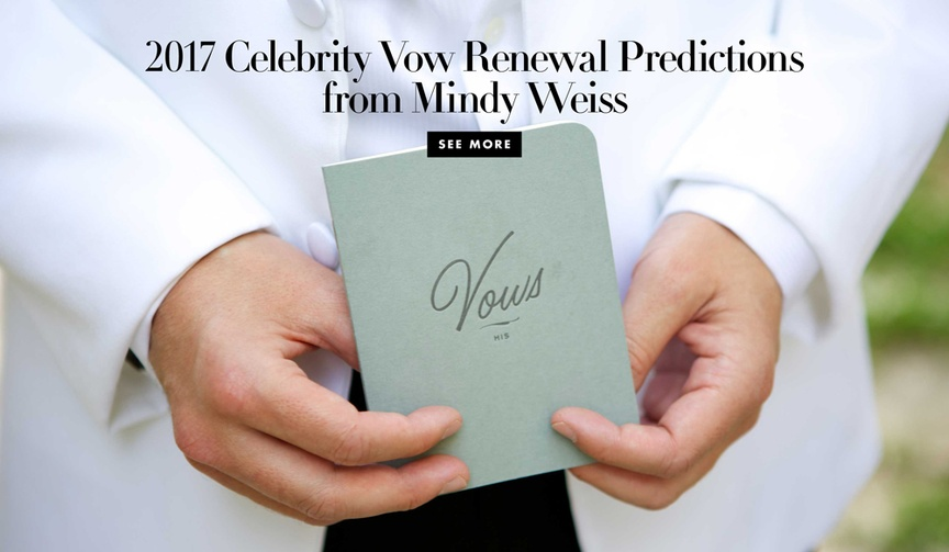 mindy weiss celebrity vow renewal predictions 2017