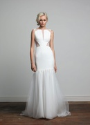 Joy Collection Barbara Kavchok Kendall wedding dress long crepe gown
