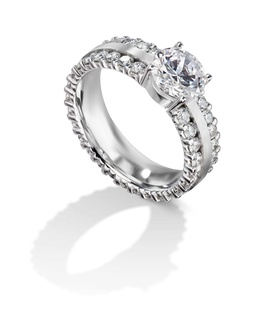 Furrer Jacot 53-66341-0-W white gold engagement ring