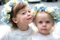 Flower girl attire with floral crown