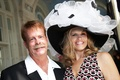 Milliner and hat maker Wayne Esterle with bride-to-be