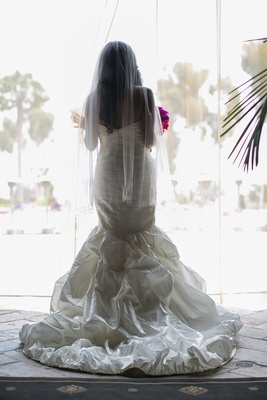 back of mermaid gown