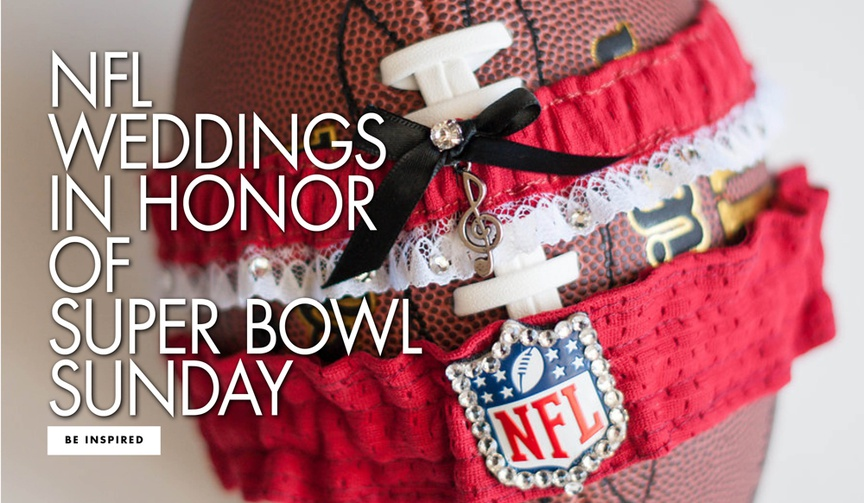 NFL weddings in honor of super bowl sunday rams vs patriots