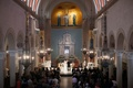 catholic wedding ceremony at St. Monica Church in santa monica, california