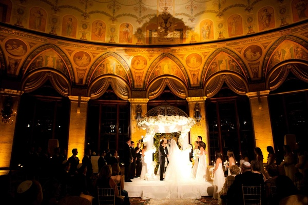 The Breakers Circle Ballroom Jewish wedding ceremony
