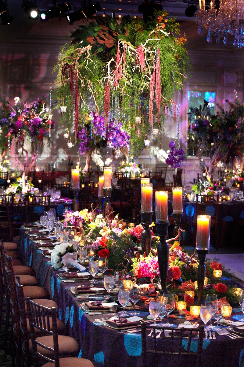 Reception dcor photos enchanted forest reception inside weddings enchanted forest themed wedding full of color junglespirit Images