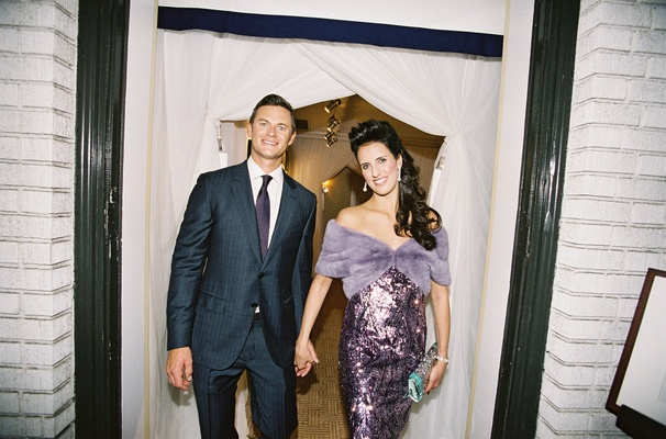 Rehearsal dinner suit and evening gown