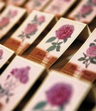 Seating cards with vintage pink flower design
