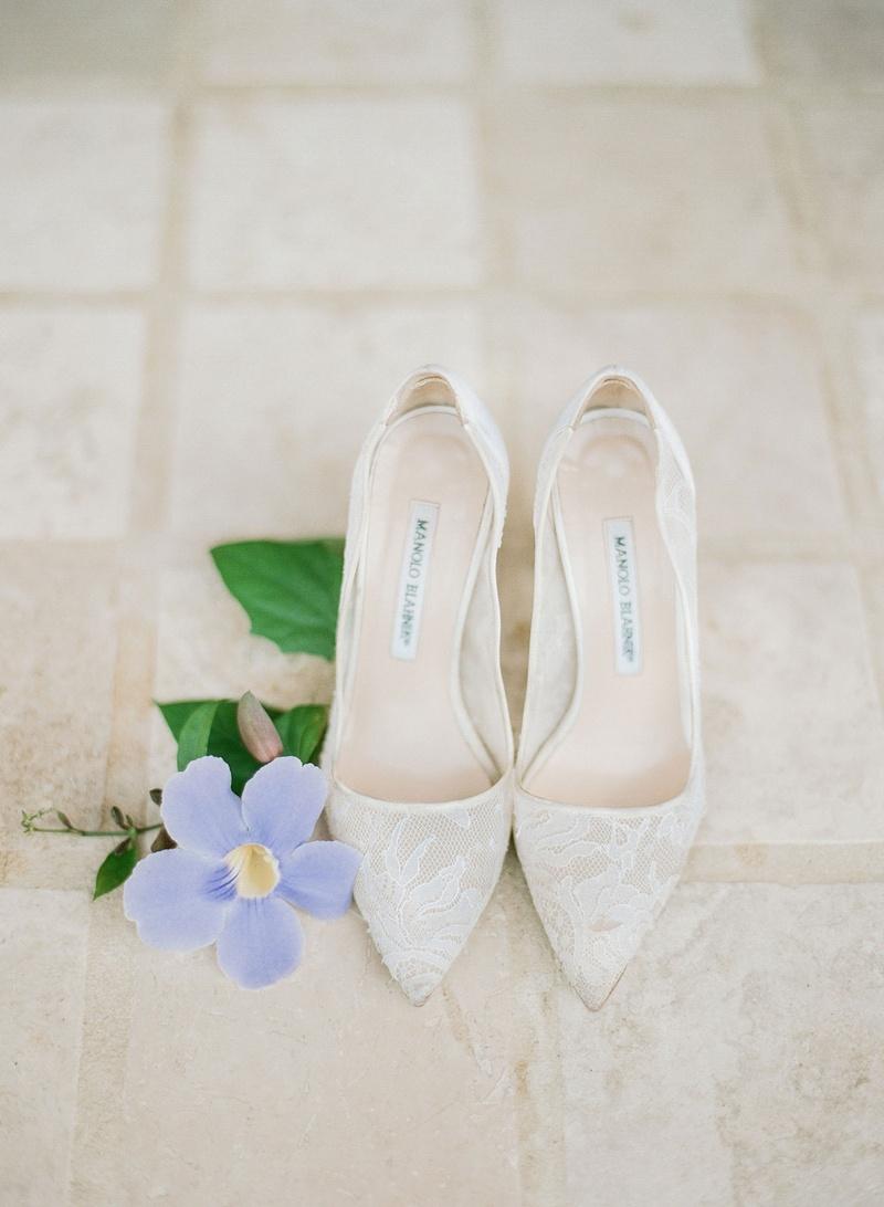 Manolo Blahnik lace shoes wedding pumps sheer classic style bridal heels