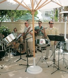 Steel drum band performs at wedding