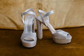 stuart weitzman platform silver peep-toe heels
