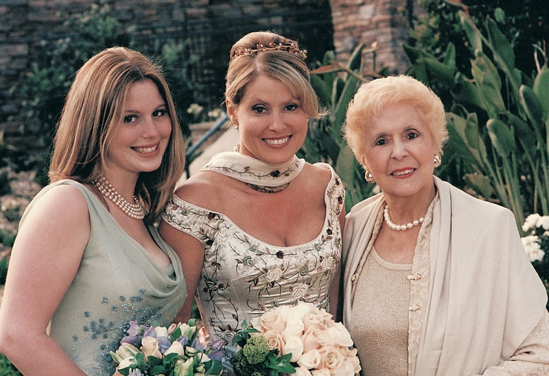 Bride with maid of honor and mother-of-the-bride