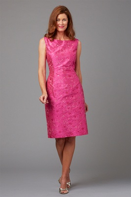Siri Spring 2016 mother of the bride dress pink high neck dress with embroidery