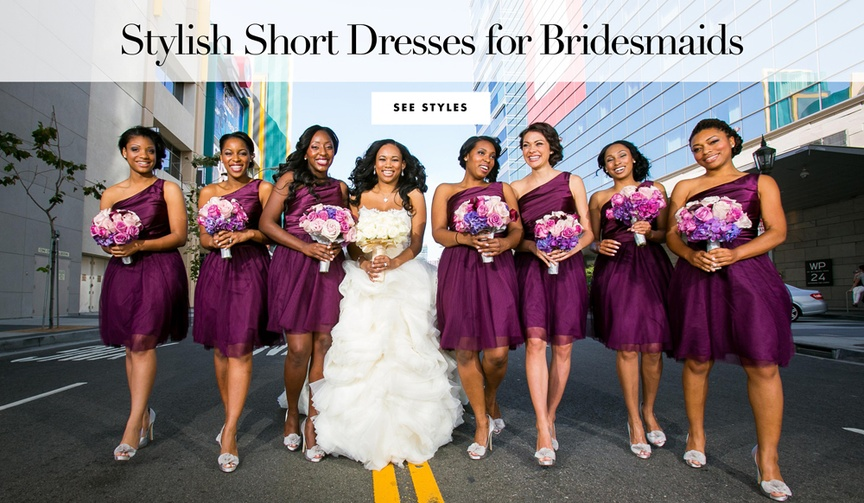 Stylish short dresses for bridesmaids to wear for warm weather spring summer destination weddings