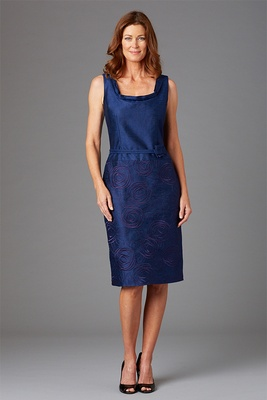 Siri Spring 2016 mother of the bride dress Amsterdam navy blue short gown