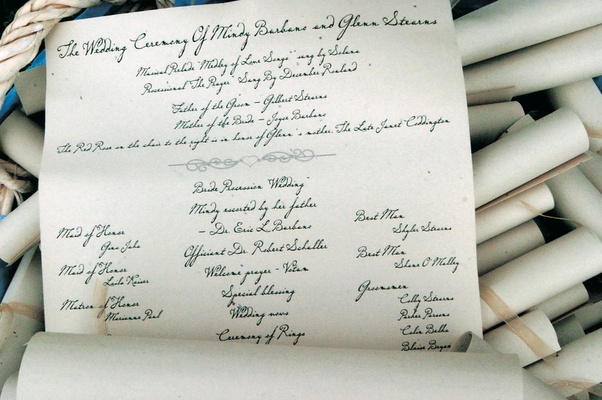 Ceremony program scrolls