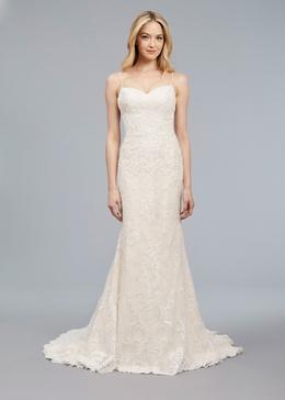 Blue Willow Bride Spring 2018 bridal collection Luna wedding dress lace slip dress keyhole back