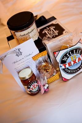 Welcome bag snacks for Dallas destination wedding