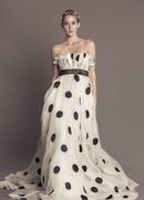 Black and white polka dot Alma dress by Francesca Miranda Fall 2016