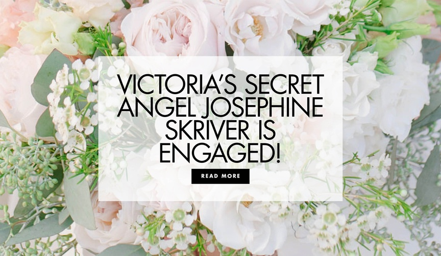 Read more about Victoria's Secret model Josephine Skriver and singer Alex DeLeon's engagement!