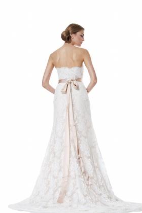 Scalloped lace two-piece Roma dress by Olia Zavozina Spring 2016
