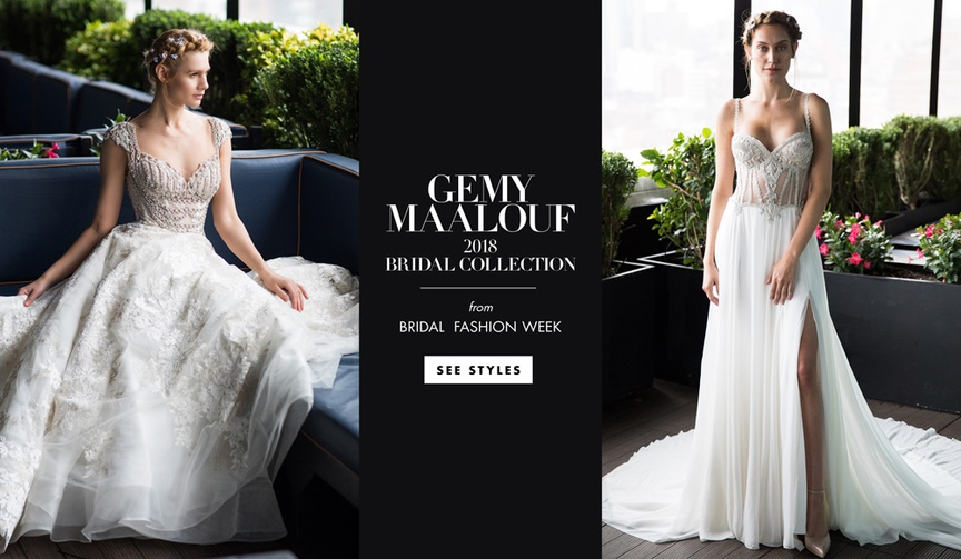 Gemy Maalouf 2018 bridal collection wedding dress inspired by the Renaissance