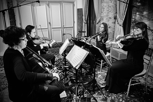 Becca Kaufman Orchestra string quartet for Chicago wedding