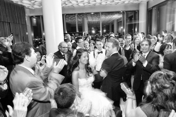 Jewish traditional Hora in ballroom reception New York NY