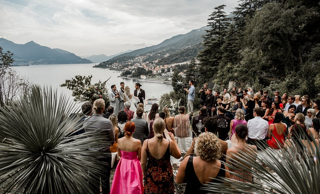 Daughters of Simone Designer's Summer Wedding in Lake Como, Italy