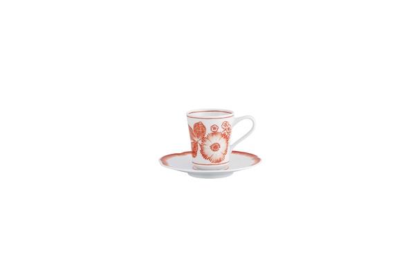 Coralina by Oscar de la Renta for Vista Alegre coffee cup and saucer