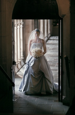 Kenneth Pool wedding dress in church