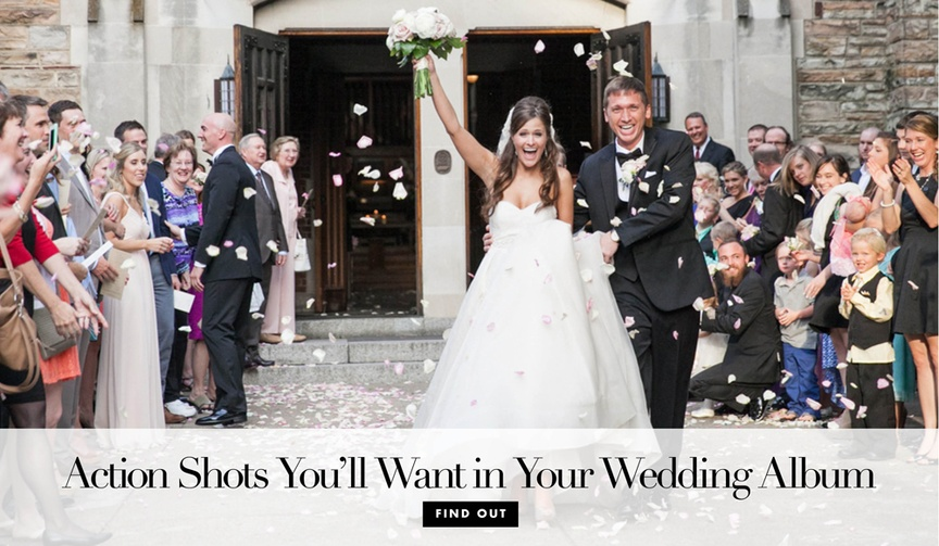 Wedding photographs you'll want to have your photographer take for your wedding album