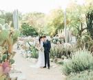 desert botanic garden wedding inspiration, boho-chic desert wedding