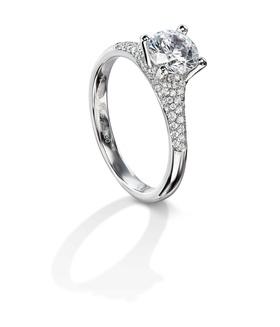 Furrer Jacot 53-66610-P-W platinum engagement ring