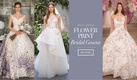 Flower print wedding dresses from spring 2017 bridal collections