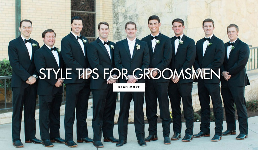 style tips for groomsmen, how to rent a suit or tuxedo