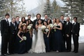 Genevieve Cortese and Jared Padalecki with bridesmaids and groomsmen