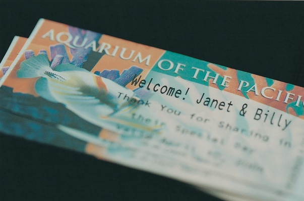 Long Beach aquarium tickets for wedding guests