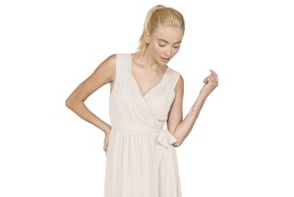 Chiffon convertible cap sleeve Abby dress by Joanna August 2016