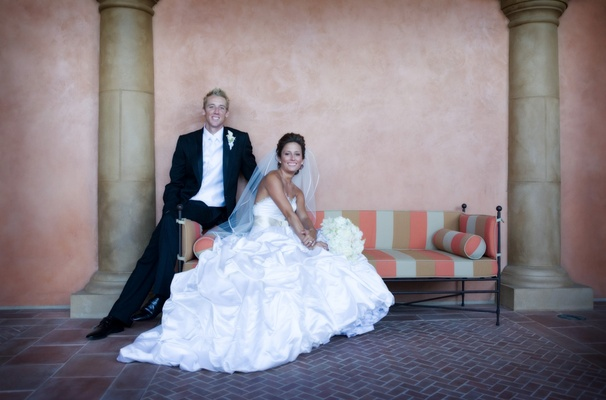 Bride and groom at Toscana Country Club
