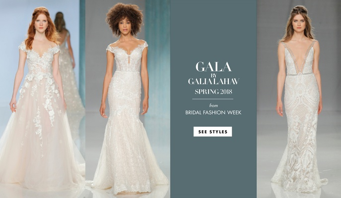 GALA Galia Lahav Spring 2018 collection dresses wedding gowns designer beading unique