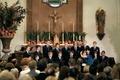 Wedding ceremony with a boys choir
