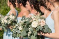 Echosmith singer Sydney Sierota and Cameron Quiseng wedding ceremony bridesmaids in light blue dress