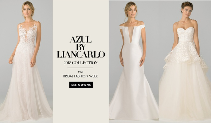 See more wedding dresses from the 2018 bridal collection by Azul by Liancarlo.