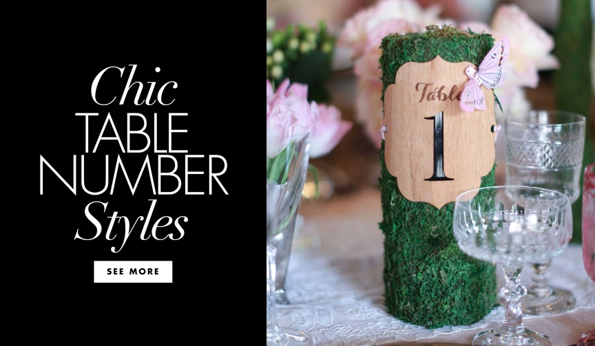 Wedding ideas unique table number labeling options